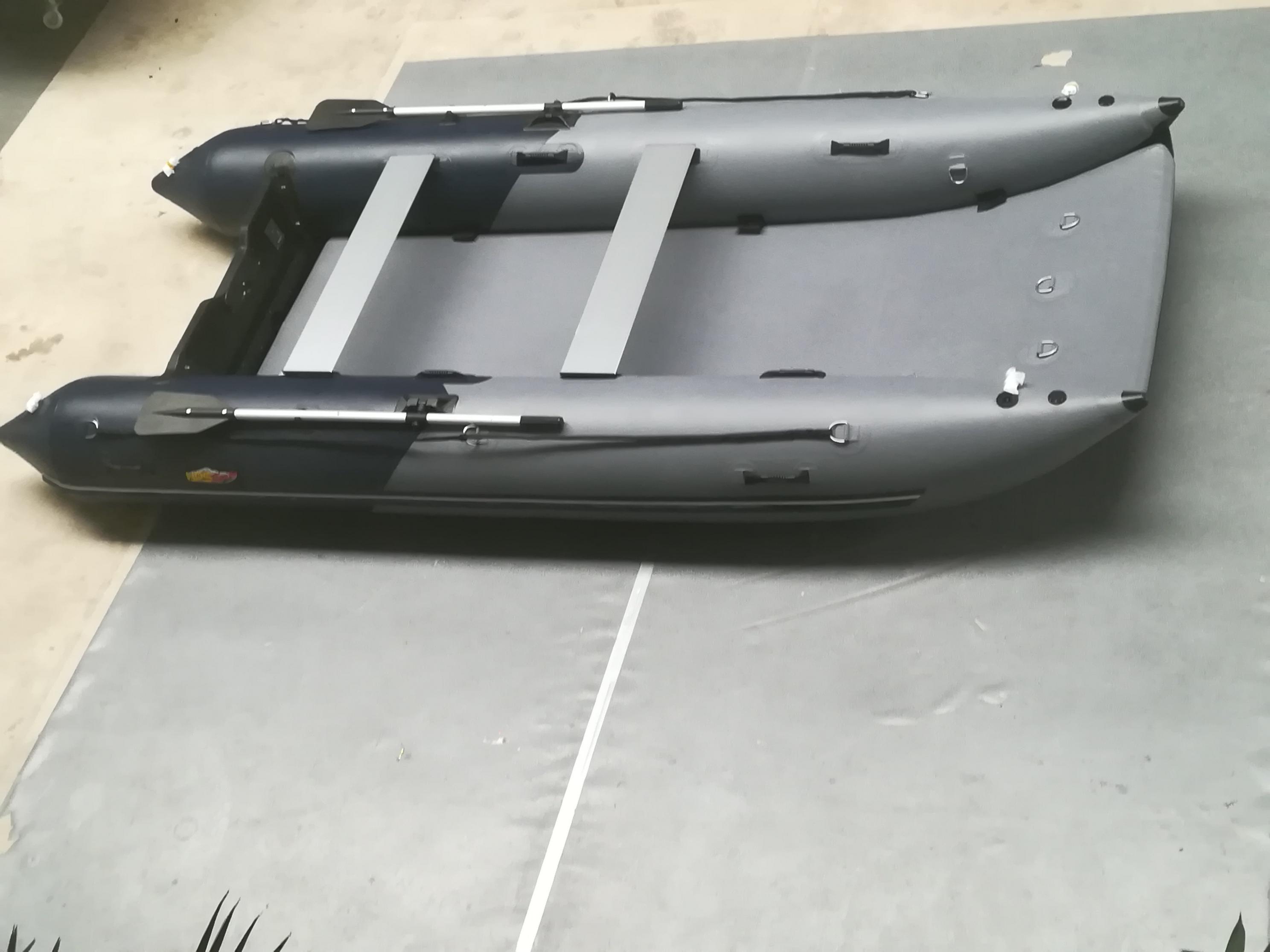 Schlauchboot HPS-Cat 420 Schwarz/Dunkelgrau ! Neu jetzt mit beschichteten GFK Spiegel!