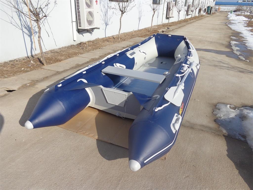 Schlauchboot HP-330 Hellgrau/Dunkelblau ! Neu jetzt mit GFK Spiegel ! l
