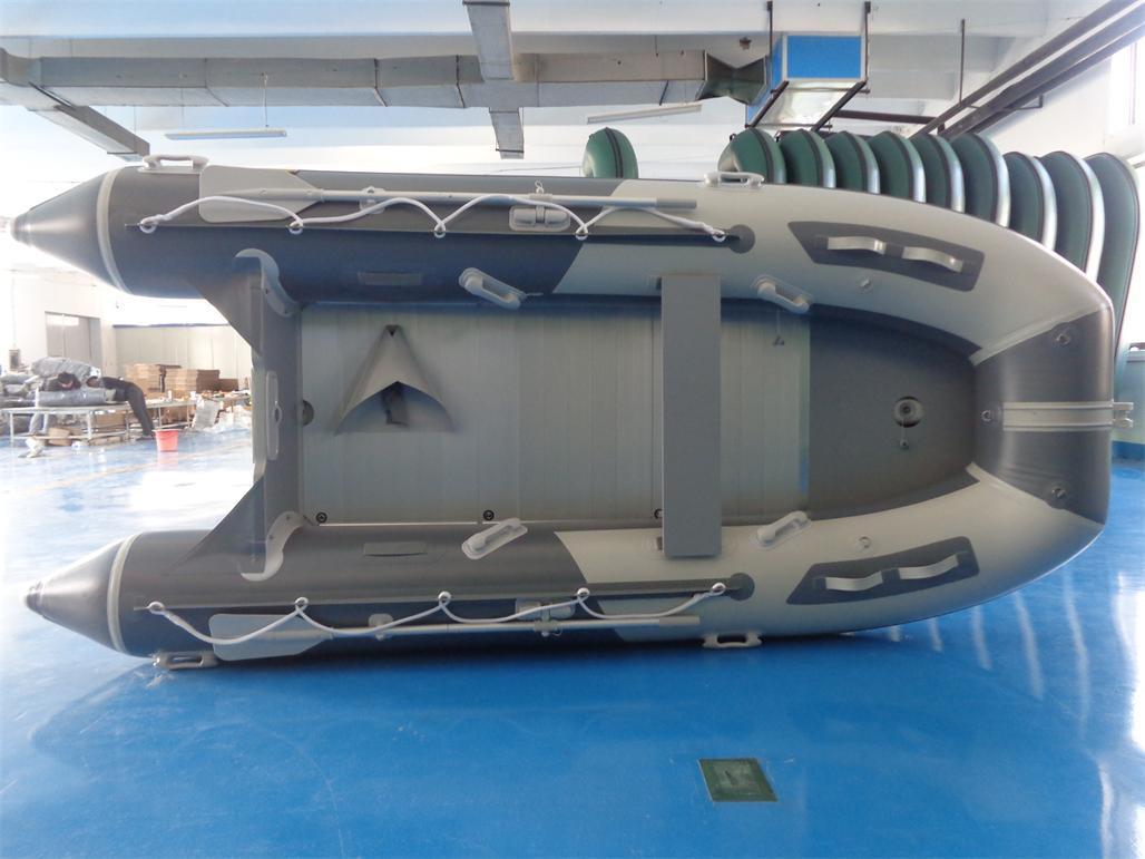 Schlauchboot HP-390 Hellgrau/Dunkelgrau !Neu jetzt mit GFK Spiegel !