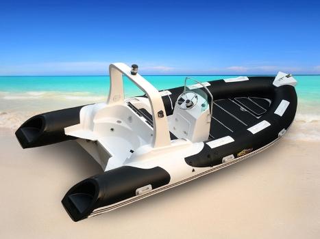 Schlauchboot RIB 520 Schwarz / Weiß