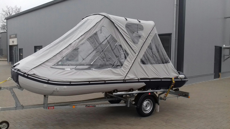 Schlauchbootzelt 5,20m - 5,30m Grau