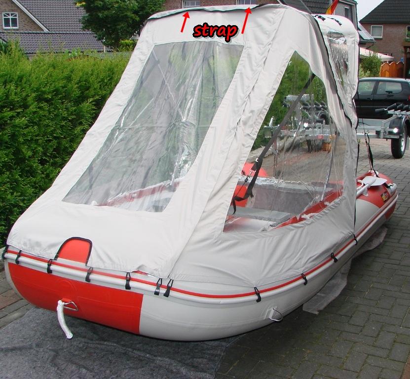 Schlauchbootzelt 4,20m - 4,30m Grau