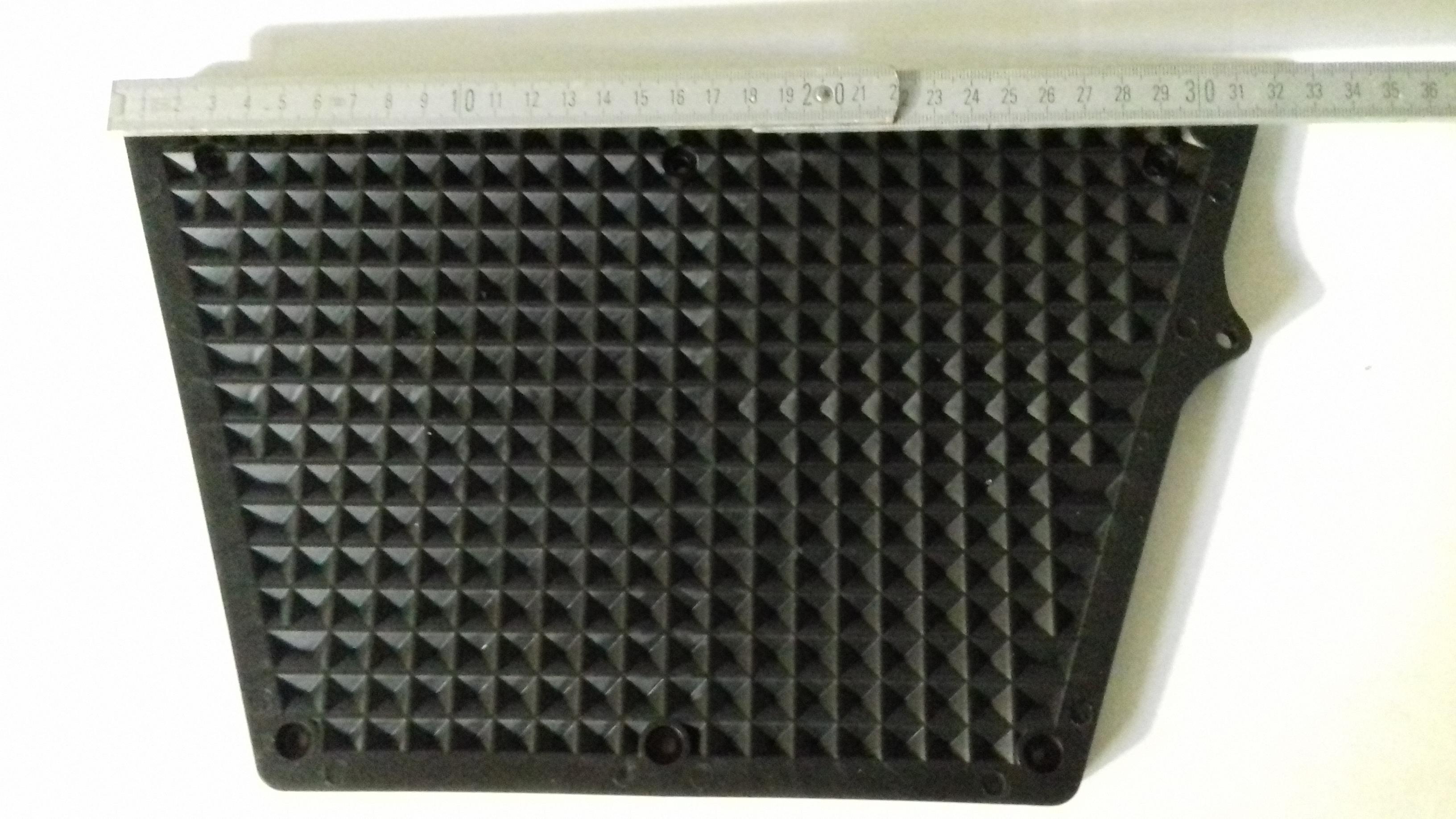 Andruckplatte Schwarz groß Kunststoff