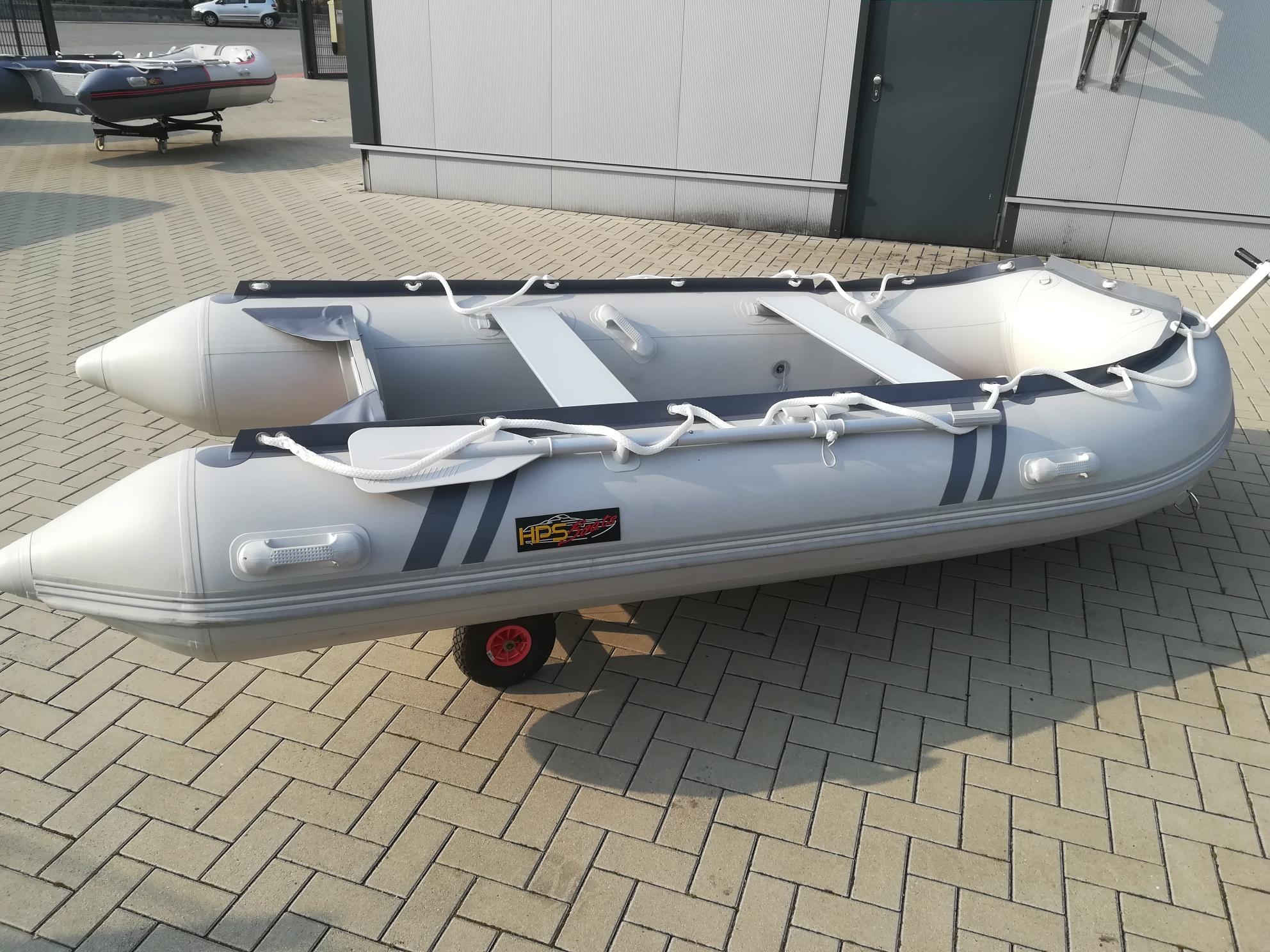 Schlauchboot HPS-Cat 380 Dunkelblau/Dunkelgrau