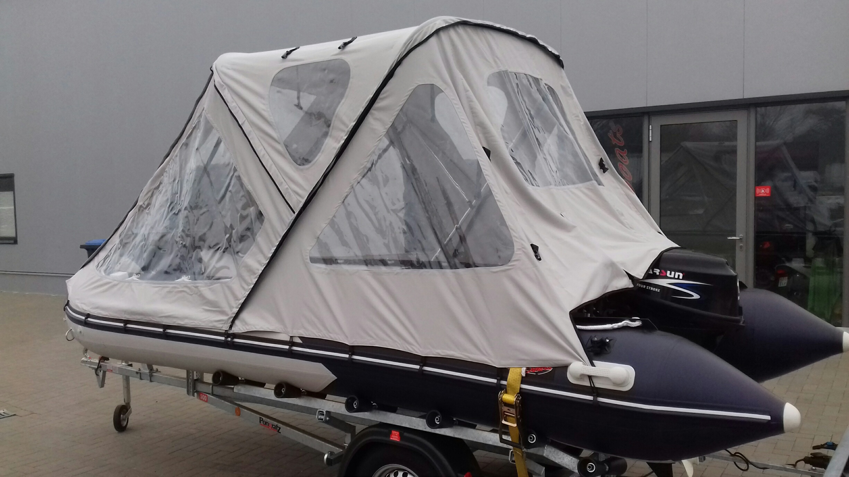 Schlauchbootzelt 4,70m - 4,80m Grau