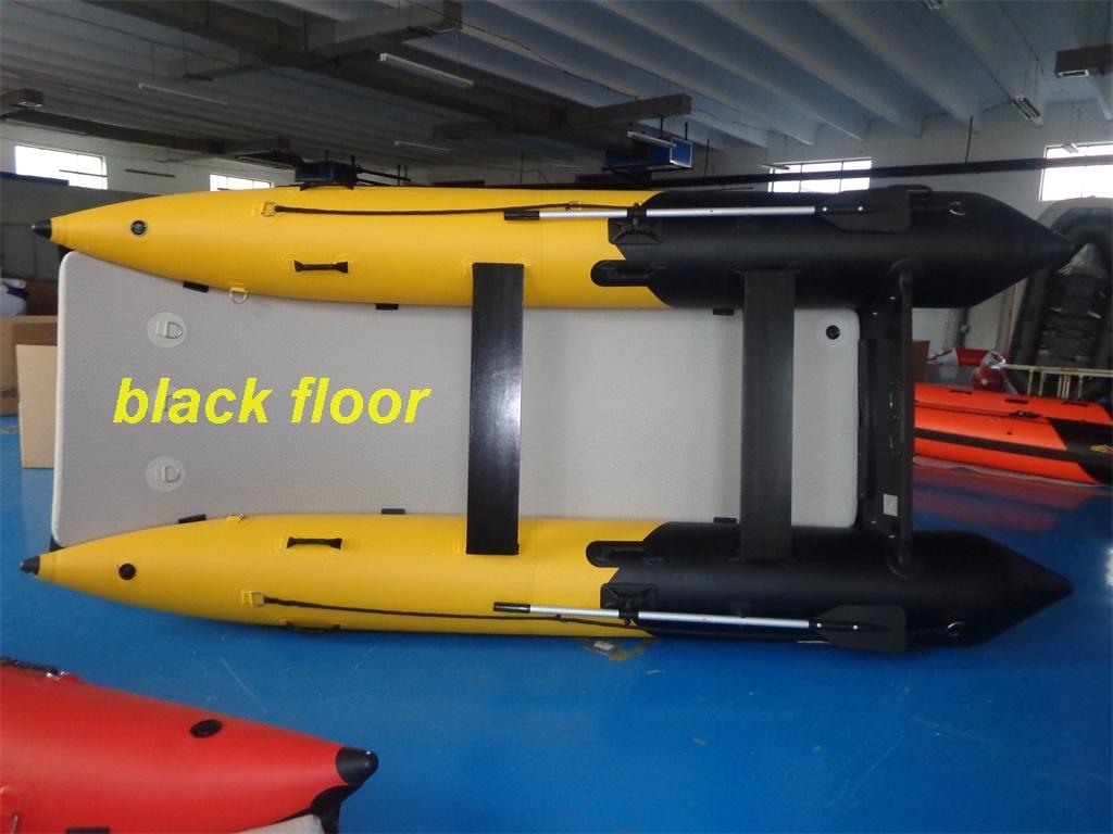 Schlauchboot HPS-Cat 420 Schwarz / Gelb !Neu jetzt mit beschichteten GFK Spiegel!